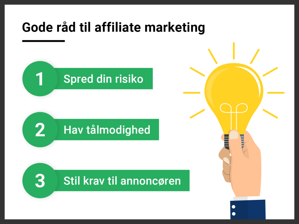 gode råd til affiliate marketing